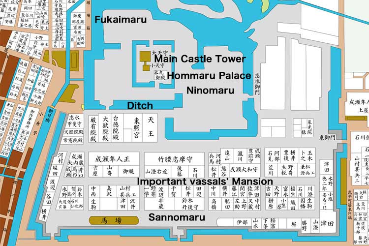 Nagoya Castle map(The late Edo period [1603-1868])[5/18]